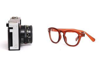 braune Mode Männer Brille foto