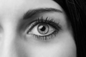 weibliches Auge foto