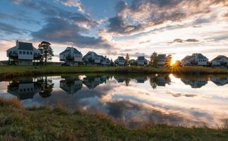 Sonnenuntergang von der Wohnung foto