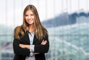 glücklicher weiblicher Manager foto