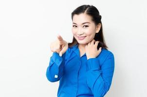 Bild einer jungen asiatischen Frau mit einem schönen Blick foto
