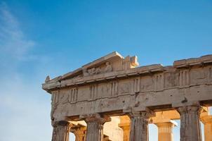 Detail des Parthenons auf der athenischen Akropolis, Griechenland foto