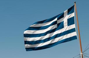 griechische Flagge foto