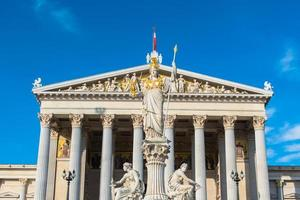 österreichisches parlament in wien foto
