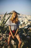 junge Frau Hipster-Stil foto