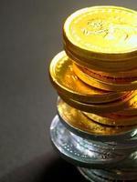 Geldmünzenstapel foto