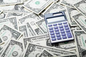 Buchhaltung im Geld foto