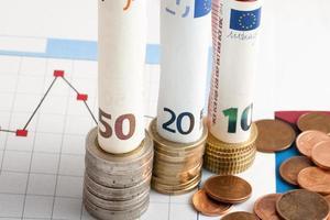 Geld und finanzielle Leistung foto