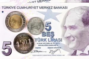 türkisches Geld türkische Lira foto