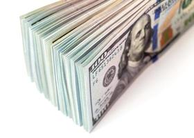 Haufen von hundert Dollarnoten hautnah foto