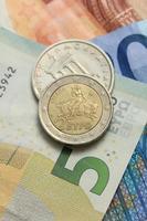 Griechisch und Euro Geld foto
