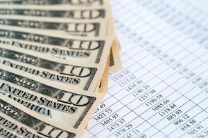 finanzieller Hintergrund foto