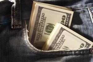 Bargeld in der Tasche foto