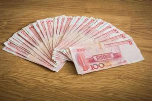 100 Yuan, chinesisches Geld foto