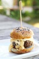 Rindfleisch Hamburger foto