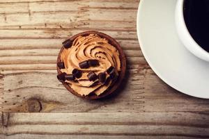 Moussekuchen mit Kaffee foto