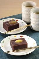 süßes Bohnenpastengelee mit Kastanien foto