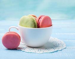 Macarons in der Tasse