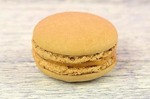 Nahaufnahme von aromatisiertem Macaron foto