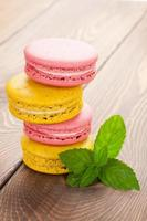 bunte Macaron-Kekse foto