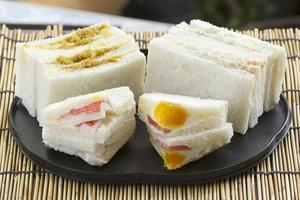 Hamburger und Sandwich-Set foto