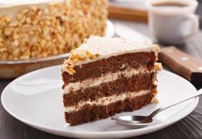 Moco-Kuchen mit Mandeln foto