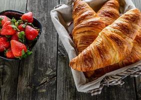 leckere Croissants foto