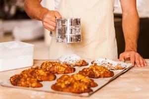 Croissants perfekt machen. foto
