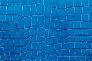 Nahaufnahme der nahtlosen blauen Lederstruktur