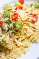 Nachos mit Käse und Chili foto