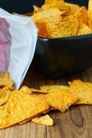 Nacho-Käse-Tortilla-Chips foto