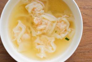 Garnelen Wonton Suppe foto
