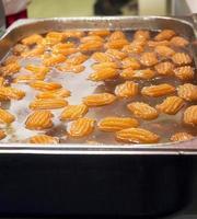 türkisches Dessert, Tulumba foto
