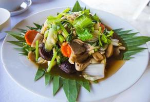 Tofubohnenquark und Gemüse foto