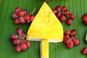 Weihnachtsbaum Design von Lebensmitteln foto