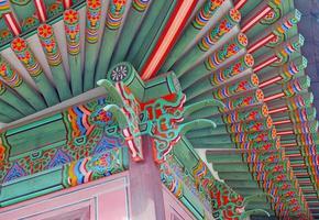 Tempel und Palast traditionelle Architektur, Seoul, Südkorea foto