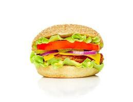 großer appetitlicher Hamburger foto