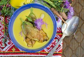 Suppe mit Kürbis foto