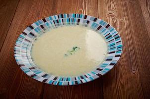 Vichyssoise, traditionelle französische Suppe foto