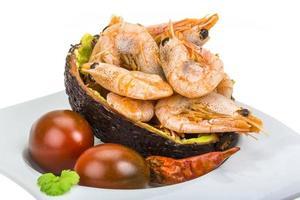 Garnelen in Avocado foto