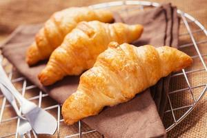 Zum Frühstück werden täglich französische Croissants serviert. foto