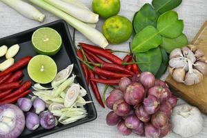 thailändisches Essen und Curry foto