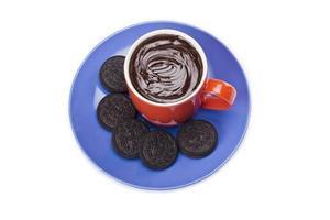 in Schokolade getauchte Kekse foto