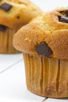 Nahaufnahme eines Vanille-Muffins foto