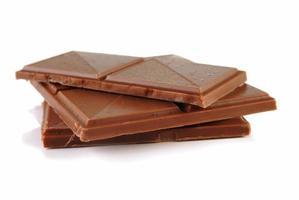 Schokolade mit Karamell und Meersalz foto