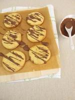 Kekse mit Schokolade foto
