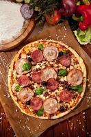 Fleischpizza foto