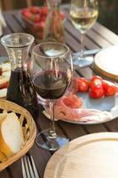 Antipasti, Wein, Abend
