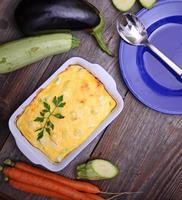 gesunde Zucchini Lasagne Bolognese foto