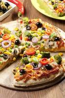 Pizza vegetarisch foto